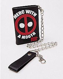 Deadpool Merc with a Mouth Chain Wallet - Marvel Comics