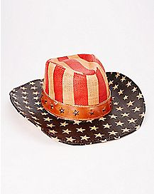 American Justice Natural Flag Cowboy Hat