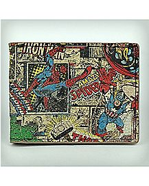 Marvel Square Collage Bifold Wallet