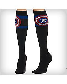 Captain America Athletic Stripe Knee High Socks