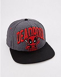 Deadpool 3D Emblem Grey Snapback Hat