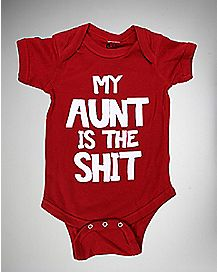 My Aunt is the Shit Baby Bodysuit