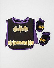 Batgirl Caped Bib Set
