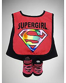 Supergirl Bib & Bootie Set - DC Comics