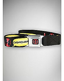 Deadpool Chimichangas Seatbelt Belt - Marvel Comics