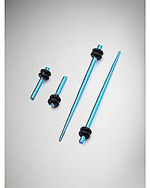 Plug & Stretcher Taper Plug 4 Pack- Blue