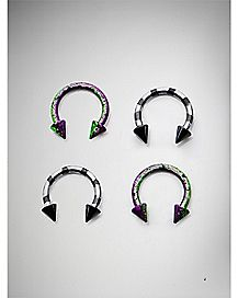 14 Gauge Purple Speckle Horseshoe 4 Pack