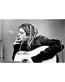 Smoking Kurt Cobain Poster Black And White