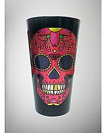 Candy Skull Pint Glass