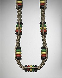 Rasta Beads Rope Necklace