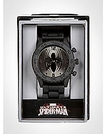 Ultimate Spiderman Black Mens Watch