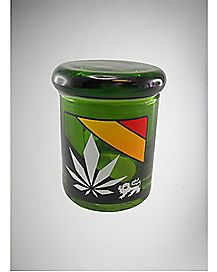 Rasta Lion Storage Jar - 3 oz