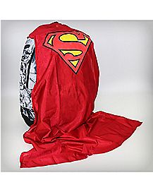 Superman Comic Backpack with Cape