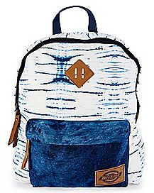 Tie Dye Blue Denim Canvas Backpack