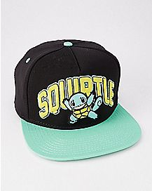 3D Embroidered Squirtle Pokemon Snapback Hat