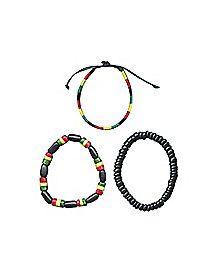Rasta Tube Friendship Bracelet 3-Pack