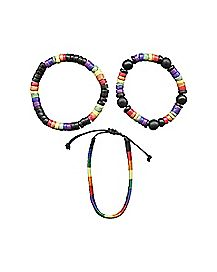 Rainbow Bead Bracelet 3-Pack