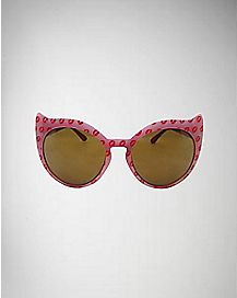 Cat Ears Sunglasses - Pink