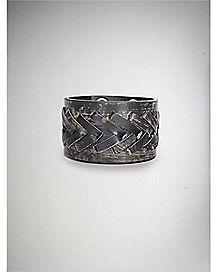 Black Vintage Stitch Cuff