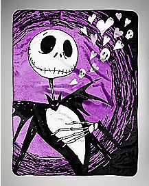 Jack Nightmare Before Christmas Fleece Blanket