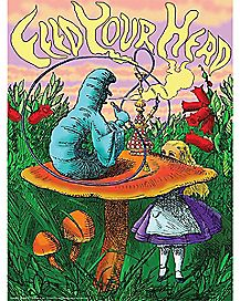 Smoking Caterpillar Blacklight Poster - Alice in Wonderland