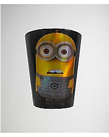 Minion Despicable Me Shot Glass 2 oz Yellow