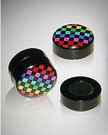 Rainbow Dot Fake Magnetic Plugs