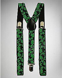 Pot Leaf Suspenders