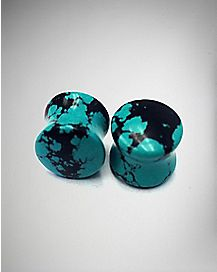 Turquoise-Effect Natural Stone Plugs