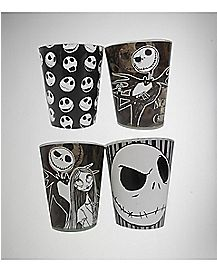 Nightmare Before Christmas Mini Glass Set 2 oz