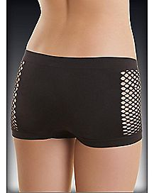 Playboy Seamless Fishnet Boy Shorts 3 Pack