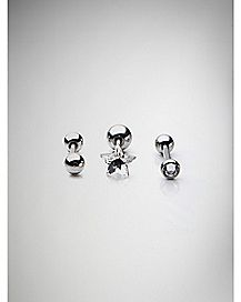 Star CZ Cartilage 3 Pack - 18 Gauge