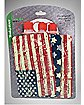 USA Flag Plastic Reusable Flasks 3-Pack
