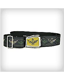 Logo Zelda Crosscheck Adjustable Belt Gold