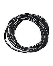 Black Rubber Bracelet Set