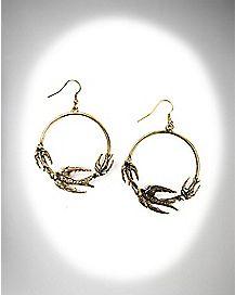 Sparrow Hoop Earrings