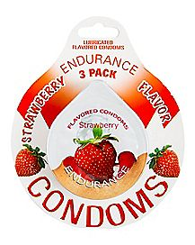 Condoms Strawberry 3 Pack