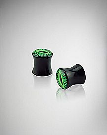 Black with Green Eye Plug 2 Pack