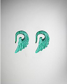 Teal Wing Spiral Hanging Plug 2 Pack