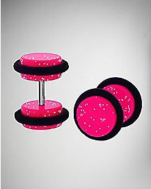 Glitter Pink Fake Plug Set