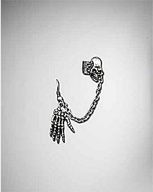 Burnt Skull Hand Earcuff