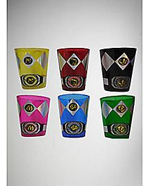 Uniform Power Ranger Shot Glasses 2 oz. - 6 Pack