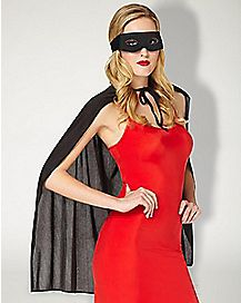 Cape And Mask Set Black