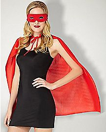 Cape And Mask Set Red