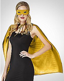Cape And Mask Set Yellow