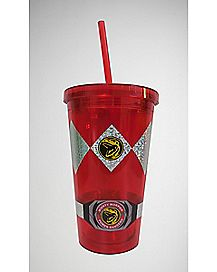 Power Ranger Cup with Straw 16 oz