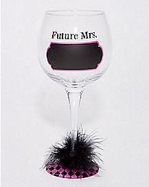 Future Mrs. Chalk Wine Glass