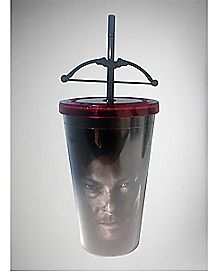 Daryl Cross Bow The Walking Dead Cup with Straw