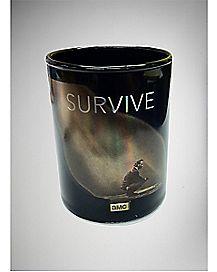 Foil Survive The Walking Dead Shot Glass 3 oz