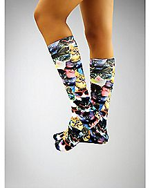Sublimated Kittens Knee High Socks